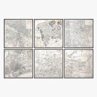 Restoration Hardware Vintage Aerial Maps Of European Cities