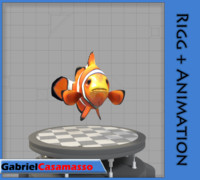 3d model clow-fish amphiprion ocellaris