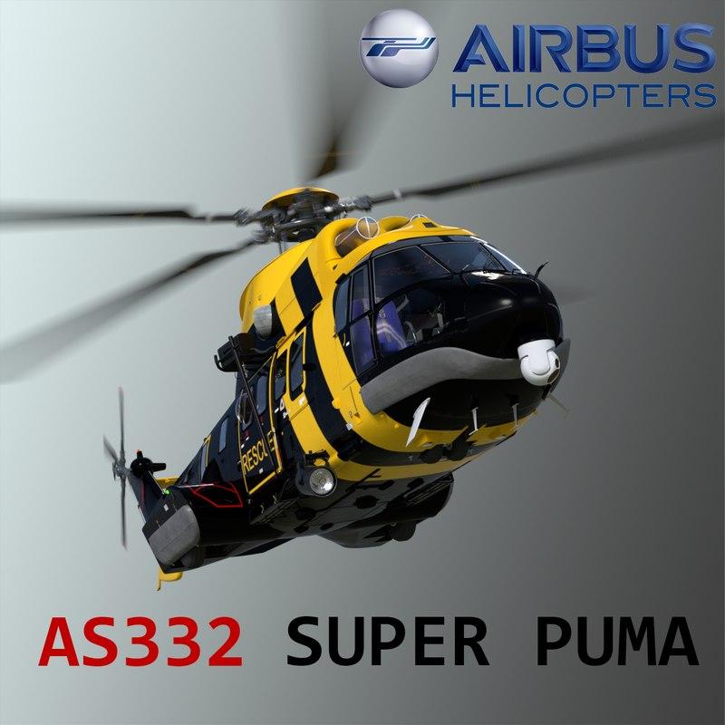 eurocopter super puma 3d model