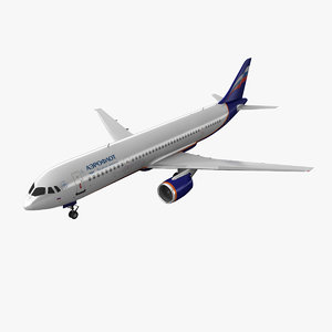 irkut aeroflot 3d model