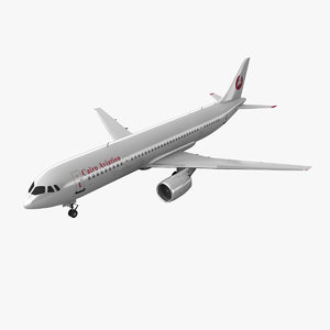 irkut airliner cairo 3d model