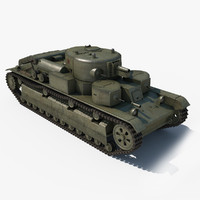 t-28 middle tank 3d max