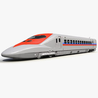 speed train locomotive generic 3d model