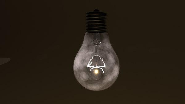 light bulb screw fitting 3d max
