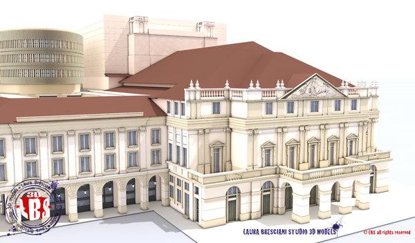 3d model la theatre opera