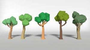 trees nature forest 3d obj