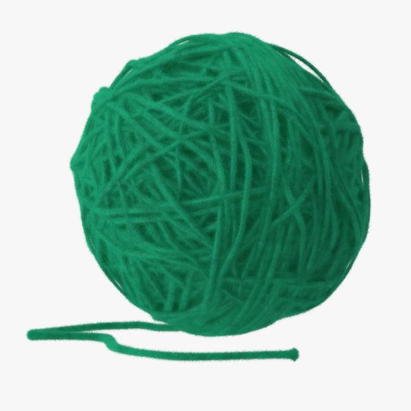 max dark green ball yarn