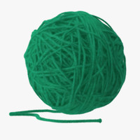 c4d dark green ball yarn