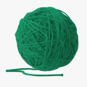 max dark green ball yarn