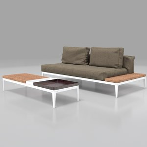 3d max garden furniture sofa table