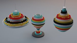 zero pxl lamps fredrik 3d model