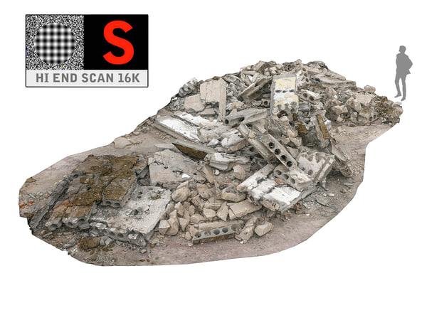 demolished building 3d model