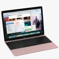 3d model apple macbook pink