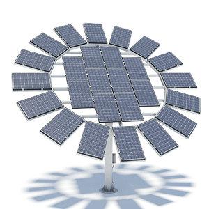 3d solar panels model