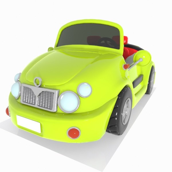 convertible car toon 3d model