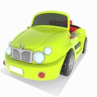 convertible car toon 3d model