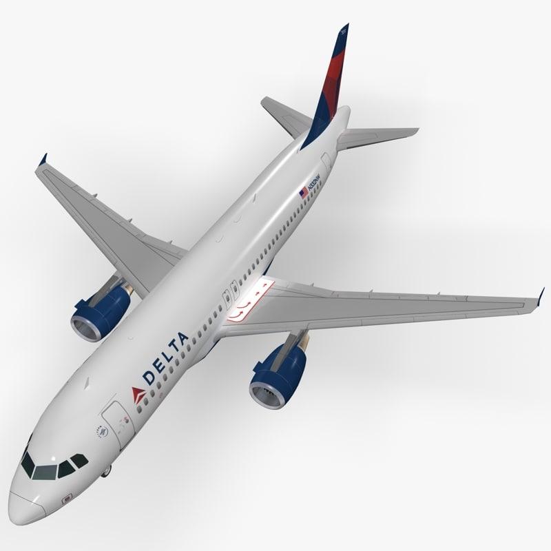 airbus delta air lines 3d max