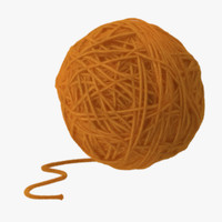 Ball of Yarn Orange 2