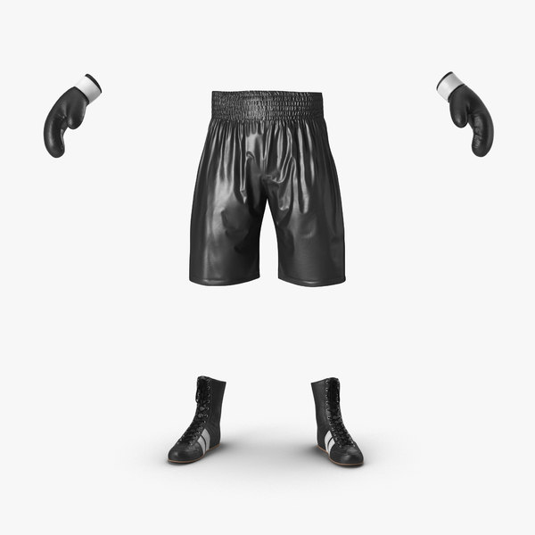 3d model boxing gear black 2