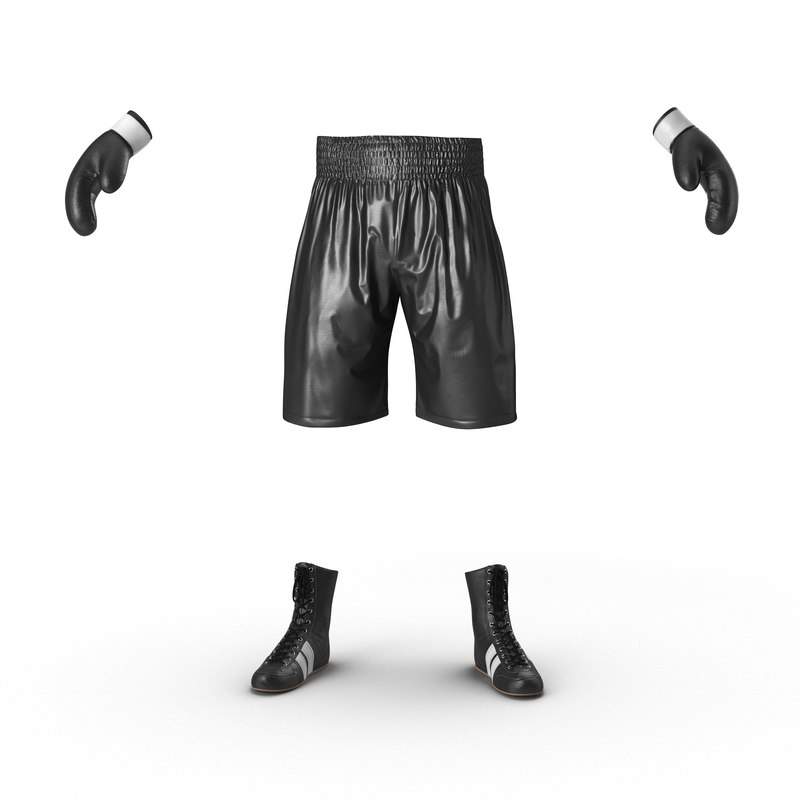 3d model boxing gear black 2