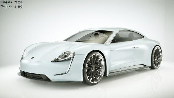 generic electric sportcar car 3d model