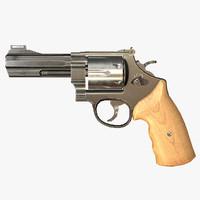 3d obj pbr revolver games ready