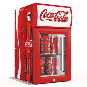 3d model small fridge