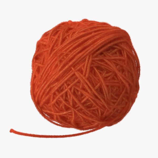 max orange ball yarn
