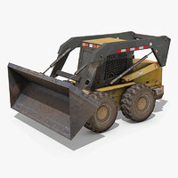 skid-steer loader industrial 3d max