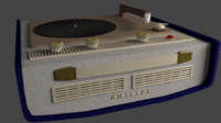 philips turntable 3d model