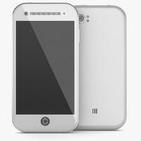 3d noname mobile phone
