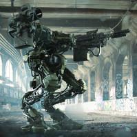 Mech Marine Robot 3D Model