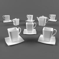 3d model coffee servise