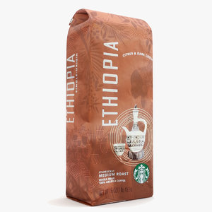 3d starbucks packaging usa edition model