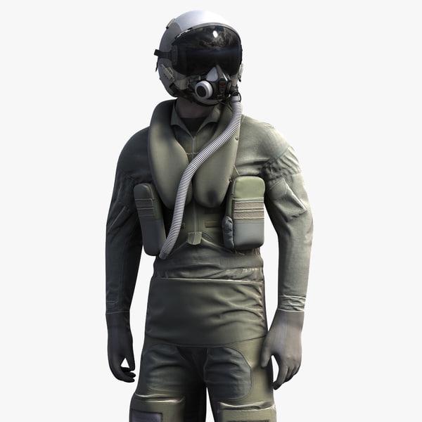 3d flight helmet model