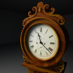 3d obj grandfather clock