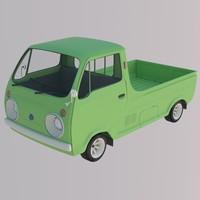 Japanese Porter Cab 1970 (Hi-Poly)