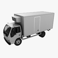 isuzu fridge truck 3d max