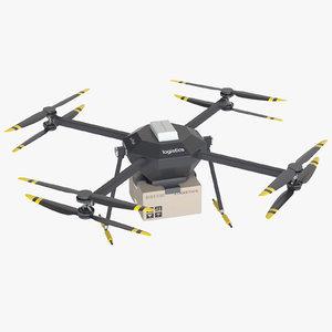 3d model photoreal logistics drone
