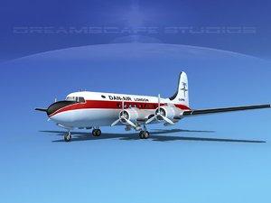 dc-4 propellers gear 3d max