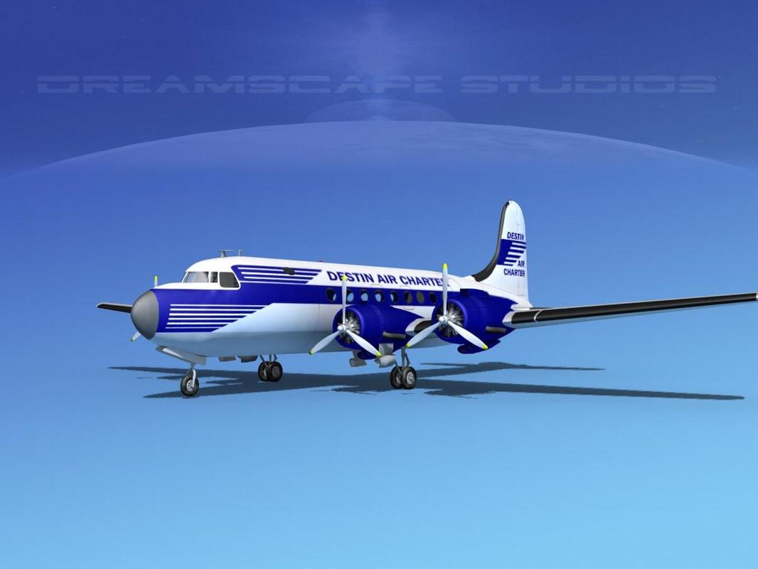 dc-4 propellers gear 3d ma