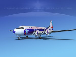 3d model dc-4 eastern airlines