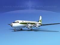 3d model dc-4 propellers gear