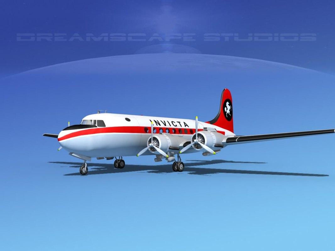 dwg dc-4 propellers gear