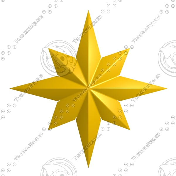 star yellow 3d model