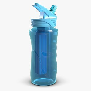 3d sport water bottle model