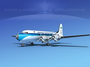 3d model dc-4 propellers gear