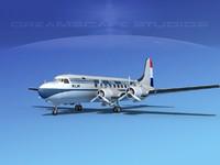 3d model dc-4 airlines