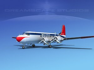 dc-4 propellers gear 3ds