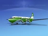 dc-4 propellers gear 3d model